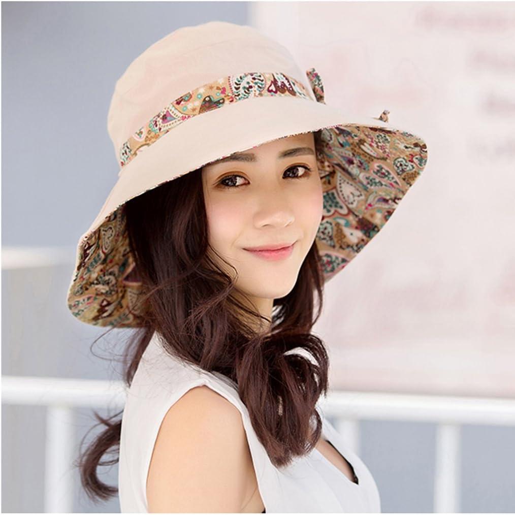 Paciffico Women Sun Hat Packable Outdoor Beach Hat UPF50+,Reversible Summer Foldable Wide Brim Hat