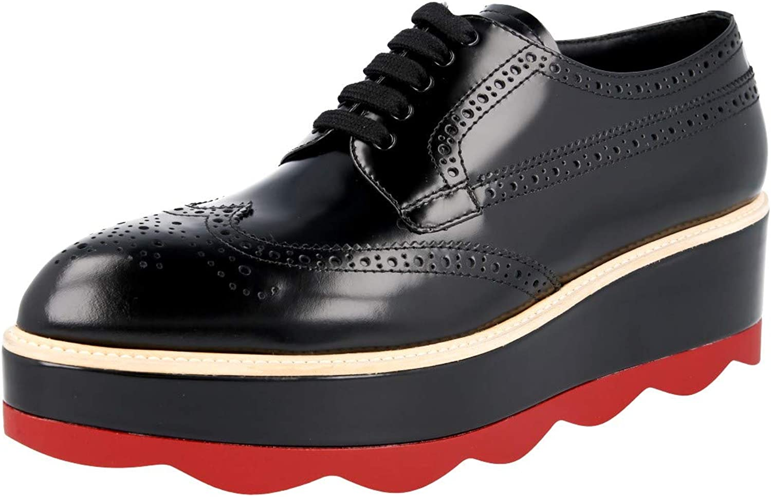 Full Brogue Leather Lace-up Shoes