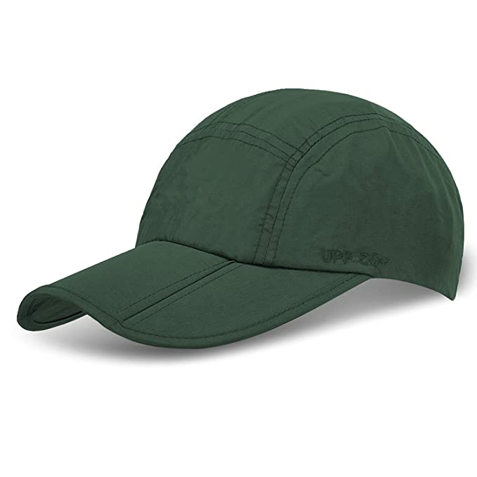 41c22457b0c Unisex Foldable UPF 50+ Sun Protection Quick Dry Baseball Cap Portable Hats