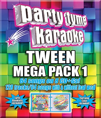 Party Tyme Karaoke - Tween Mega Pack 1 [8 CD][64+64-Song Party Pack] Birthday Party Songs Cd