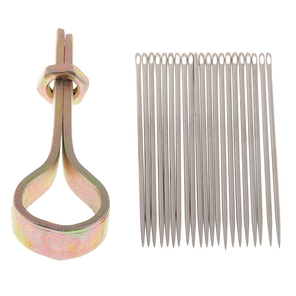 Computer accessories - 22 Needles with Metal Handle Sewing Awl Hand Stitcher Shoe Repairing Tools by trang tri