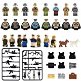 Minifigures set-24 Army Marine Corps with Military Weapons Accessories Navy Soldier Minifigures Toys Building Blocks 100% Compatible