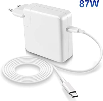 Compatible con Macbook Pro Air cargador 87W USB C de 13/15 ...