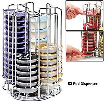 cooltechstuff - 52 GIRATORIO DISCO T rack soporte para Bosch Tassimo máquina de Café Cápsula cápsulas (52 Cápsula TORRE DISPENSADOR): Amazon.es: Hogar