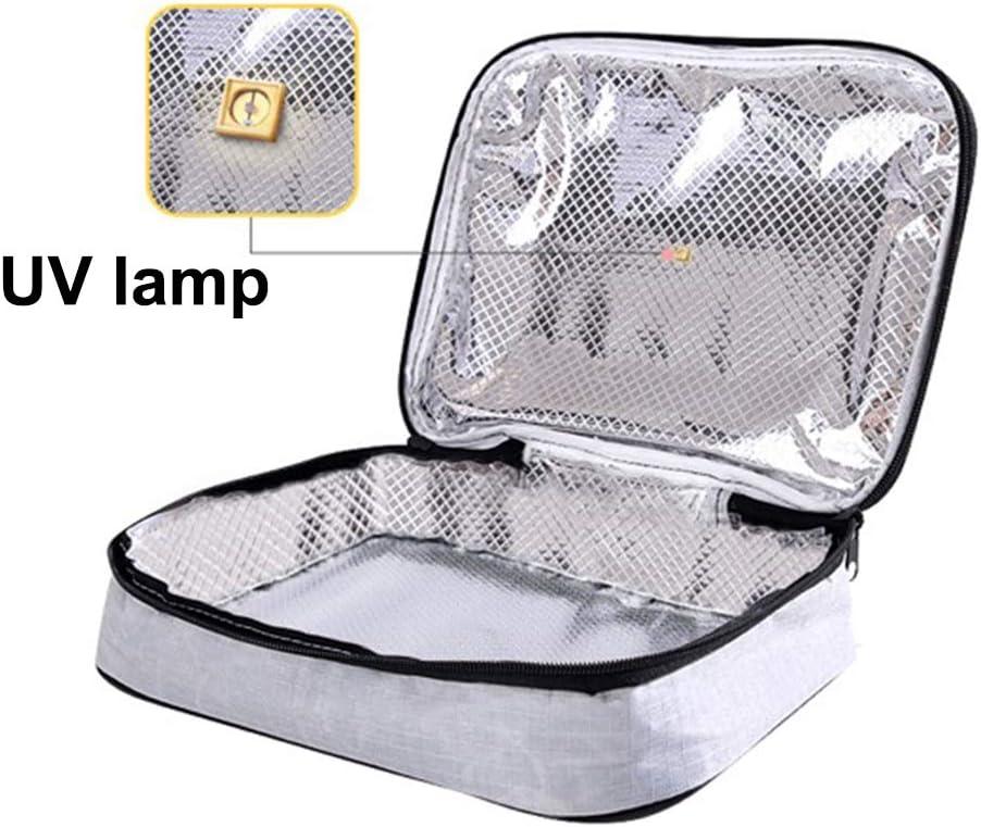 Swakom UV-Sterilisator Tasche,USB UV Desinfektionstasche tragbar Sterilisator Tasche zur Wiederverwendung von Gesichtsmasken//Babyflaschen//Zahnb/ürsten