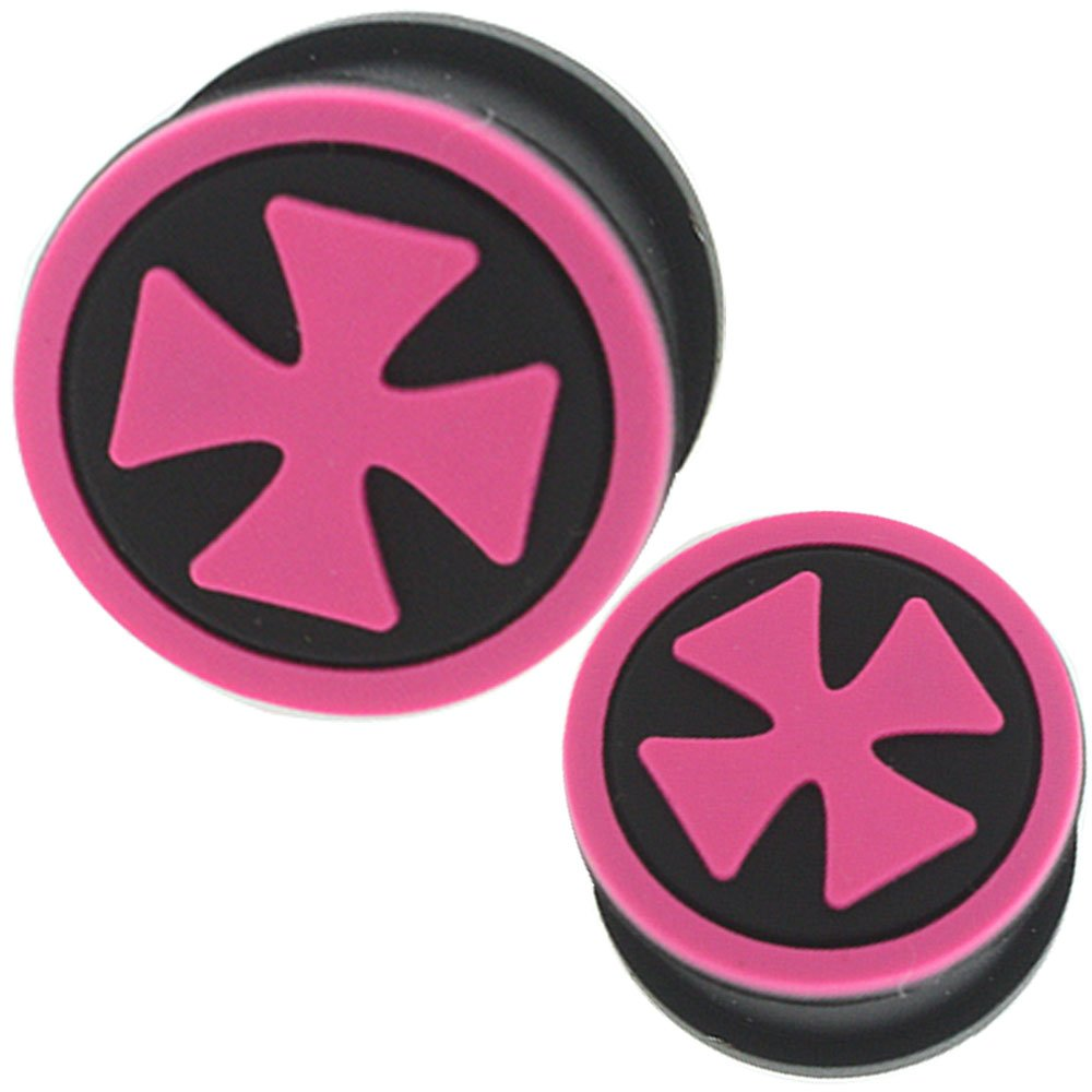 0 gauges 0g ear plugs silicone flesh tunnels double flare expander stretcher taper MoDTanOiz 0g 8mm