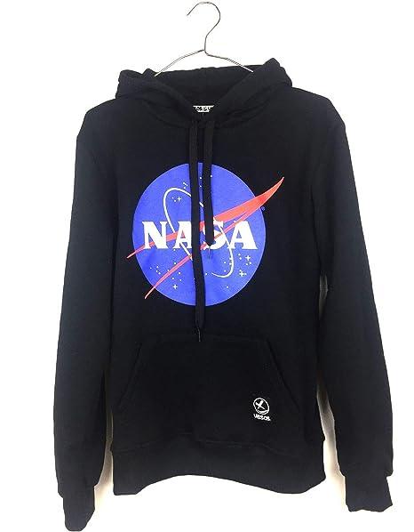 Uissos Sudadera NASA con Capucha De Chico Sudaderas para Hombre con Bolsillos Estilo Casual (l