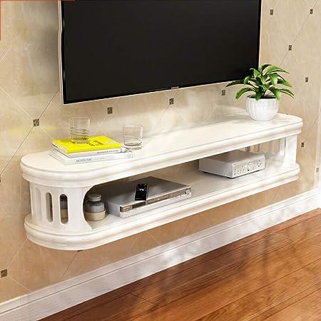 Estante flotante montado en la pared Rack de DVD Gabinete para TV Estante para enrutador wifi