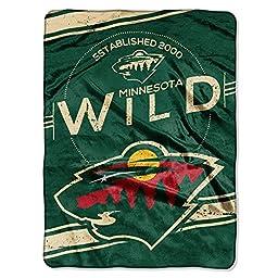 NHL Minnesota Wild Stamp Plush Raschel Blanket, 60\
