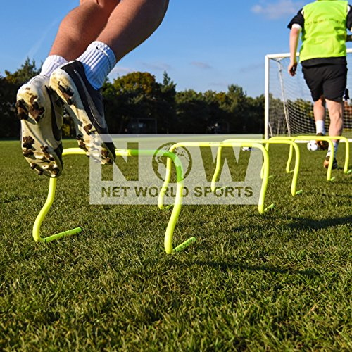 "6""/9""/12"" SPEED HURDLES New & Improved Design for Agility Training [Set of 6] [Net World Sports]"