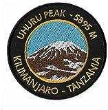 Mount Kilimanjaro Iron on Patch/3.5 Inch Embroidered Uhuru Peak Tanzania Trekking Badge