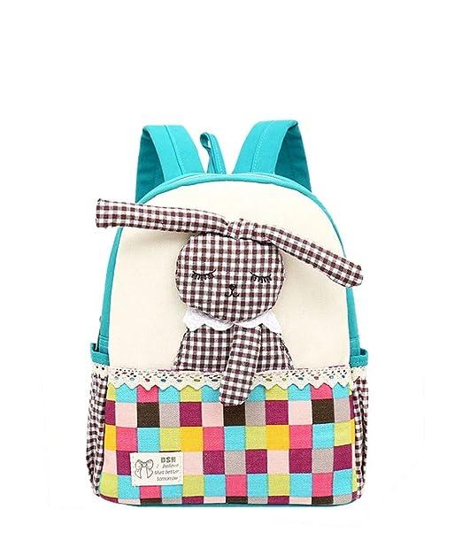 Dorapocket Kids 3D Cartoon Cute Rabbit Bag Children School Canvas Backpack ,Blue 5cdcb8cf90