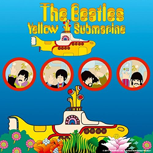 The Beatles Coaster Yellow Submarine Portholes Official 9.5Cm X 9.5Cm Single ()