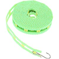Prettyia Travel Clothesline Camping Clothes Lines Adjustable Clothes Drying Rope Portable with Hooks Outdoor Fishing…