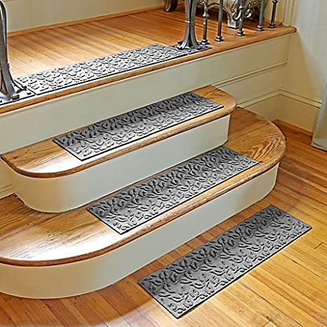 Weather Guard Dogwood Leaf Stair Treads (Set Of 2) (GRAY)
