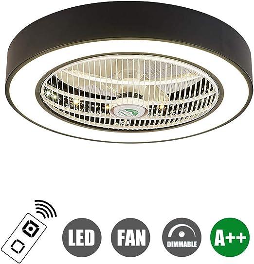 SFOXI Ventilador de Techo con luz LED y Mando a Distancia Moderno ...