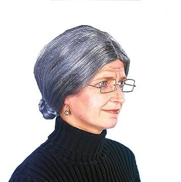 La abuela de la peluca gris