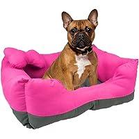 Fancy Pets Cama Rectangular, color Rosa/Gris