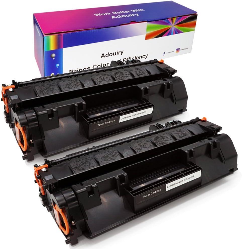 Adouiry Compatible Toner Cartridge Replacement for HP Laserjet 80A CF280A 80X CF280X Laserjet Pro 400 M401A M401D M401N M401DNE MFP M425DN (Black, 2-Pack)