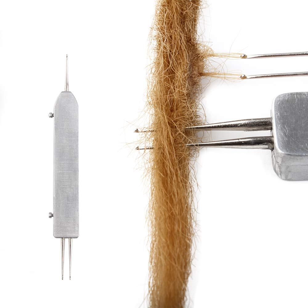 AliLeader Telescoping Dreadlock Crochet Hook Dreadlocks Crochet Needle Soft Touch Steel Double 0.75mm Crochet Hook for Dreads Tool