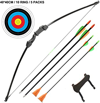 united kingdom best place classic fit TOPARCHERY Takedown Youth Recurve Bow and Arrow Set Archery Beginner Long  Bow Set Outdoor Sports Game Hunting Toy Gift for Adults Youth Teens