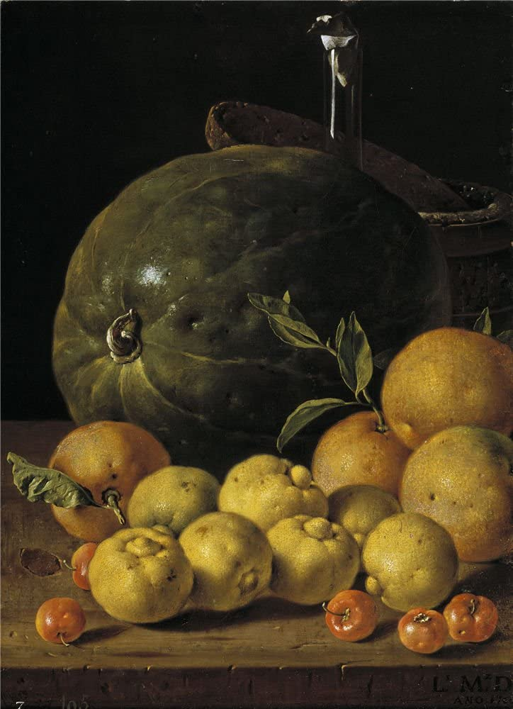 The polyster Canvas of oil painting 'Melendez Luis Egidio Bodegon limas naranjas acerolas y sandia 1760 ' ,size: 18 x 25 inch / 46 x 63 cm ,this Imitations Art DecorativePrints on Canvas is fit for gift for girl friend and boy friend and Home decoration and Gifts