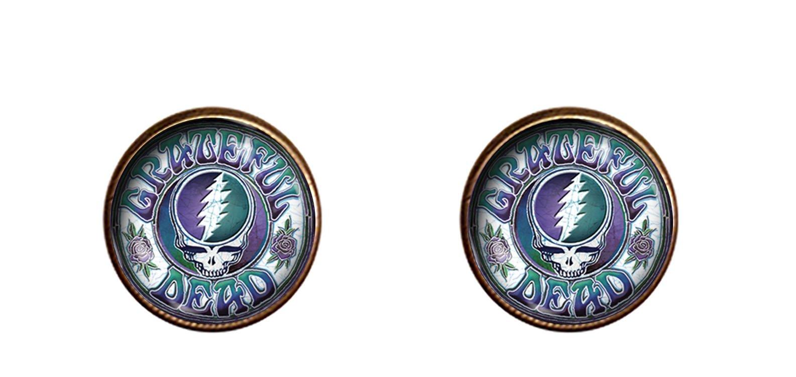 Grateful Dead Skull cuff links 16mm handmade jewelry gift charm