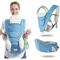 Ergonomic Baby Hip Seat Carrier Baby Waist Stool for Newborn Child Infant Toddler with Cool Air Mesh Windproof Babyhood…