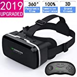 VR Headset with Remote Controller,3D Glasses Virtual Reality Headset for VR Games & 3D Movies, VR Headset for iPhone & Androi