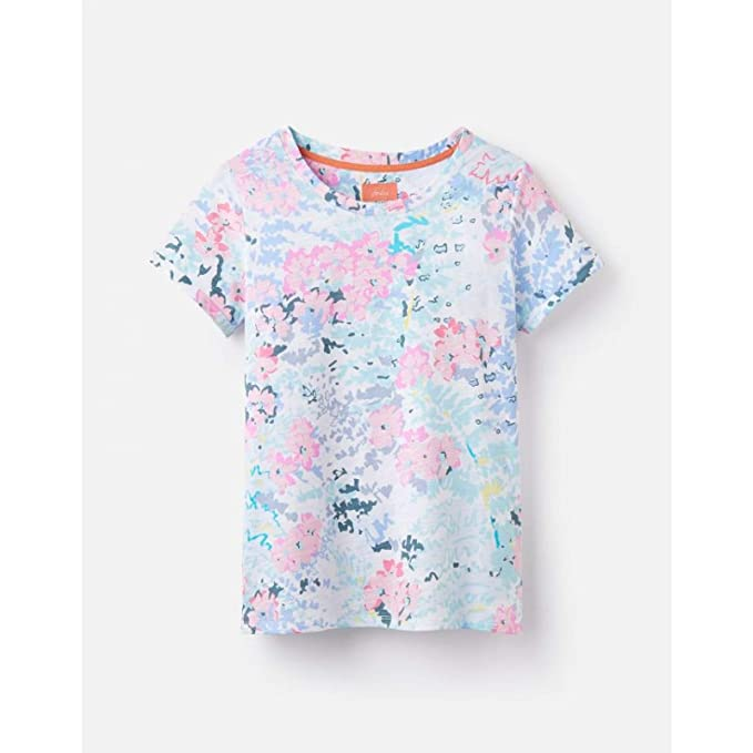ceb2f1d0 Joules Nessa Print Lightweight Jersey T-Shirt - SS19: Amazon.co.uk: Clothing