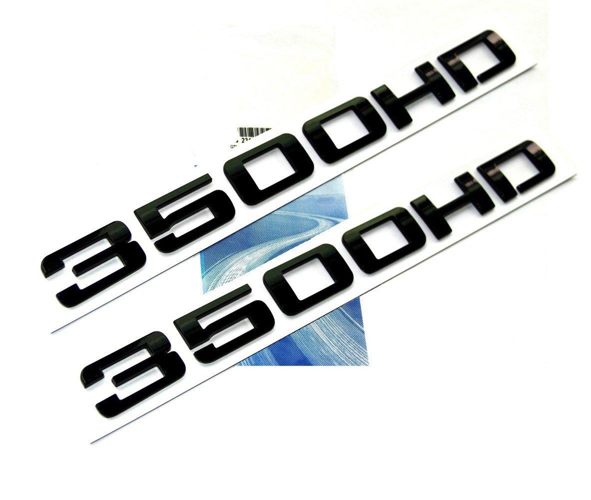 Yoaoo 2x OEM Genuine Black 3500HD 3500 HD Nameplates Emblems Badges Alloy for Gm Chevrolet Silverado Sierra Glossy 2 pieces