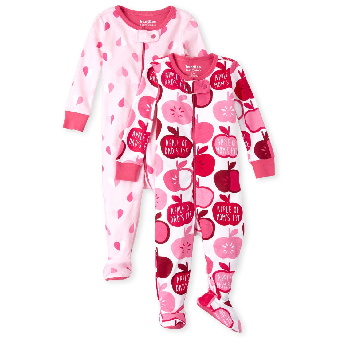 Pack of Two The Childrens Place Baby Girls Blanket Sleeper