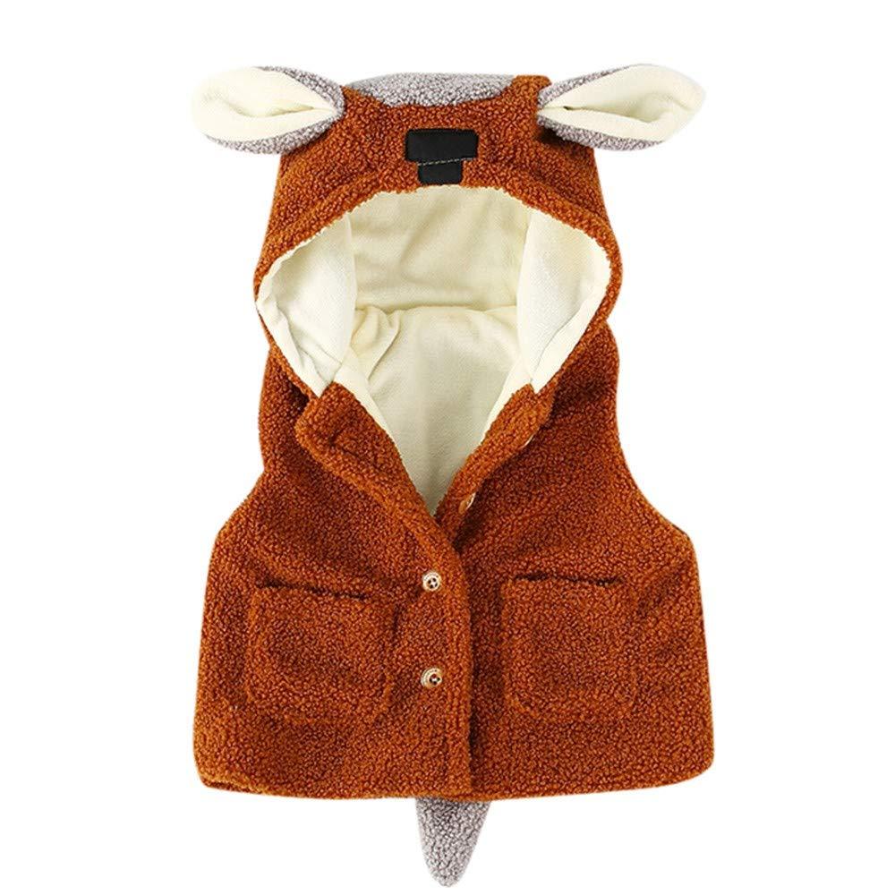 Elecenty Cappotti e giacche per bambina caldo vestiti inverno ragazze fumetto ragazze fumetto orecchie bambini neonato Cappotto