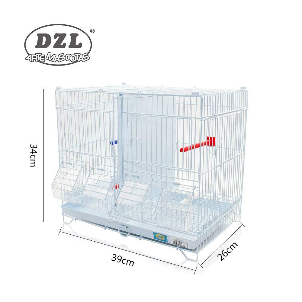 DZL® Jaula metálica de criar para pájaros (90 * 35 * 44cm L ...