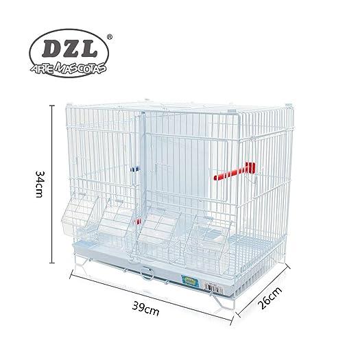 DZL Jaula metálica de criar para pájaros (39 * 26 * 34cm S ...