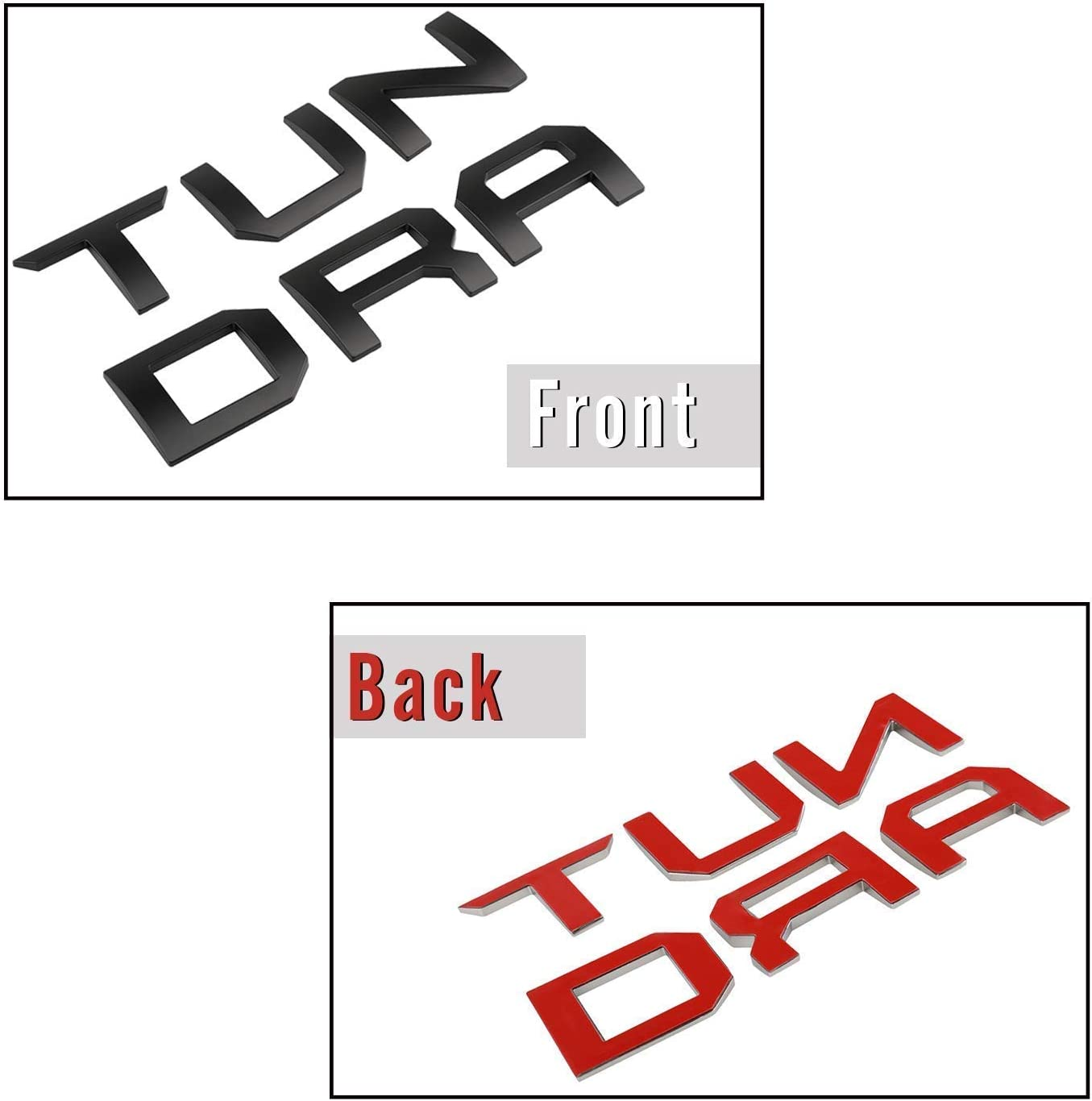 Mr Udinese Tailgate Insert Letters Compatible with Toyota Tundra 2014-2020 3D Raised /& Strong Adhesive Decals Letters Chrome Silver Tailgate Emblems Inserts Letters