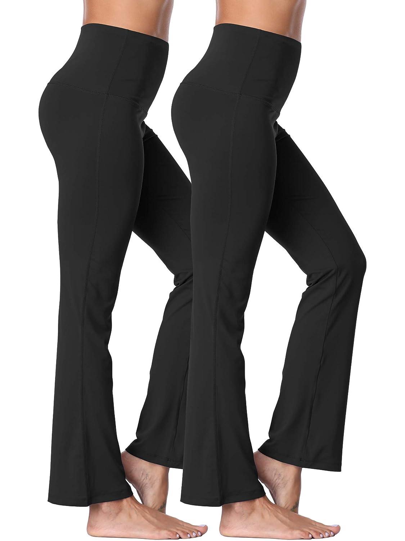 106  Black Black, 2 Pack Neleus High Waist Running Workout Leggings for Yoga with Pockets