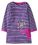 Kyпить Fiream Girls Cotton Longsleeve Casual Dresses Applique Cartoon by Fiream(S0277,4T/4-5YRS) на Amazon.com