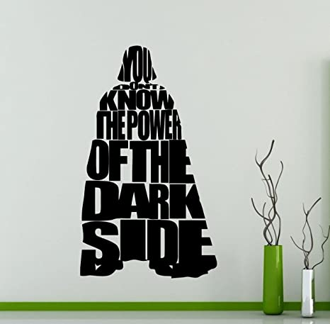 Darth Vader Star Wars Wall Vinyl Decal You Dont Know The Power Of