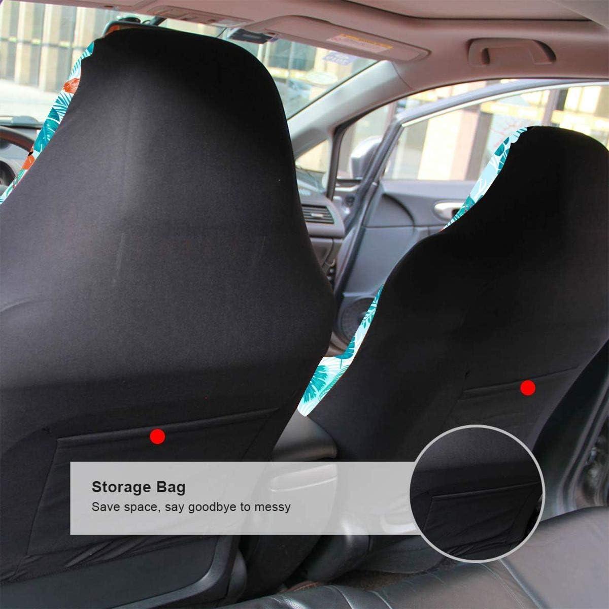 Flamingos Universal Front Seats Vehicle Enterior Protector Suitable Fits Most Car Auto SUV Sedan Truck 2 PCS Delerain Car Seat Covers