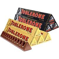 Toblerone三角 瑞士进口巧克力 瑞士三角巧克力 休闲零食 糖果 (牛奶100g*5+黑巧100g*5)