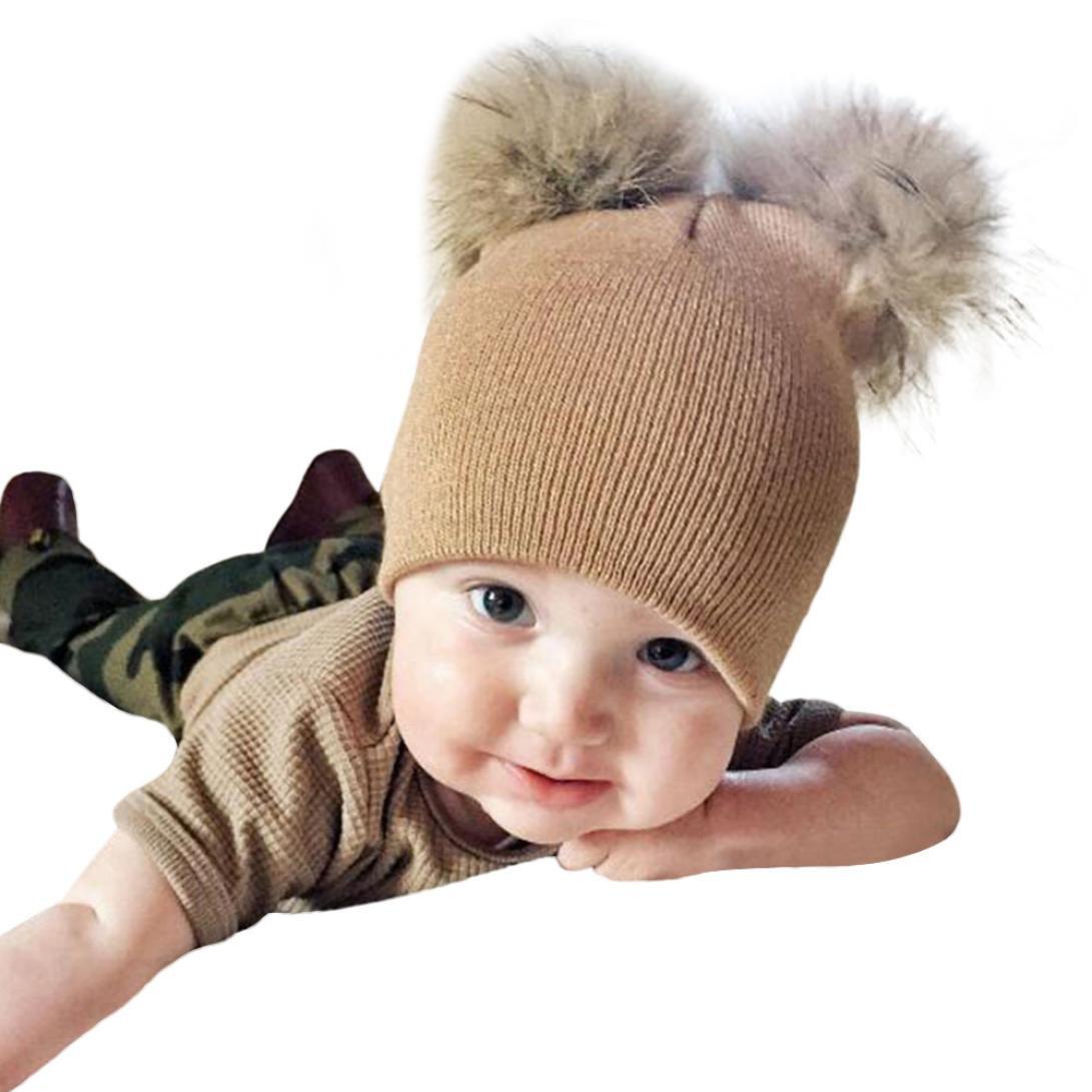 Mamum Junge Baby Webpelz Ball Hut, Säuglingsschätzchen s s ...