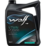 Bidon 4 litres d'huile moto Wolf V Twin 4 Temps 20W50 8305016