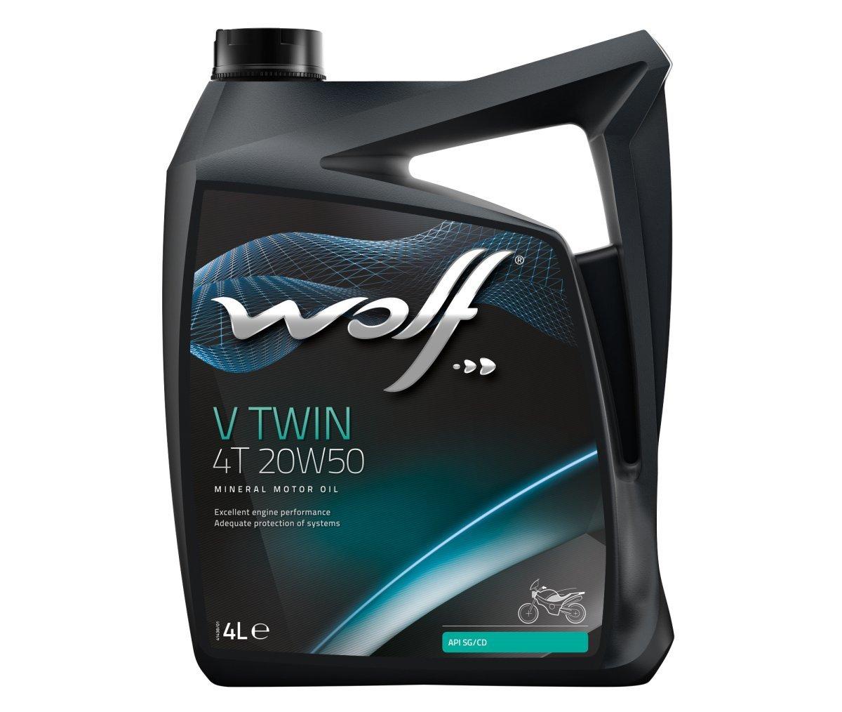 Wolf Bidon 4 litres d'huile moto V Twin 4 Temps 20W50 8305016