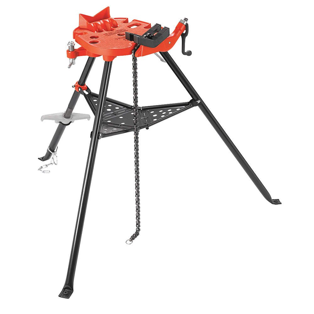 RIDGID 36278 Model 460-12 Portable TRISTAND Chain Vise, 1/8-inch to 12-inch Pipe Vise