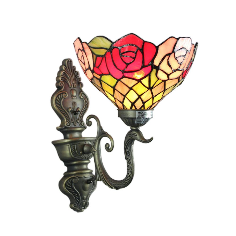 8-Inch Luxury Rose Tiffany Wall Lamp by Gweat Tiffany Lamp (Image #1)