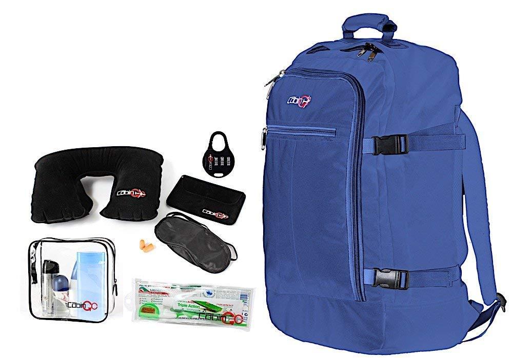 Cabin GO Zaino cod. MAX 5540 bagaglio a mano/cabina da viaggio, 55 x 40 x 20 cm, 44 litri approvato volo IATA/EasyJet/Ryanair, Blue/Blue