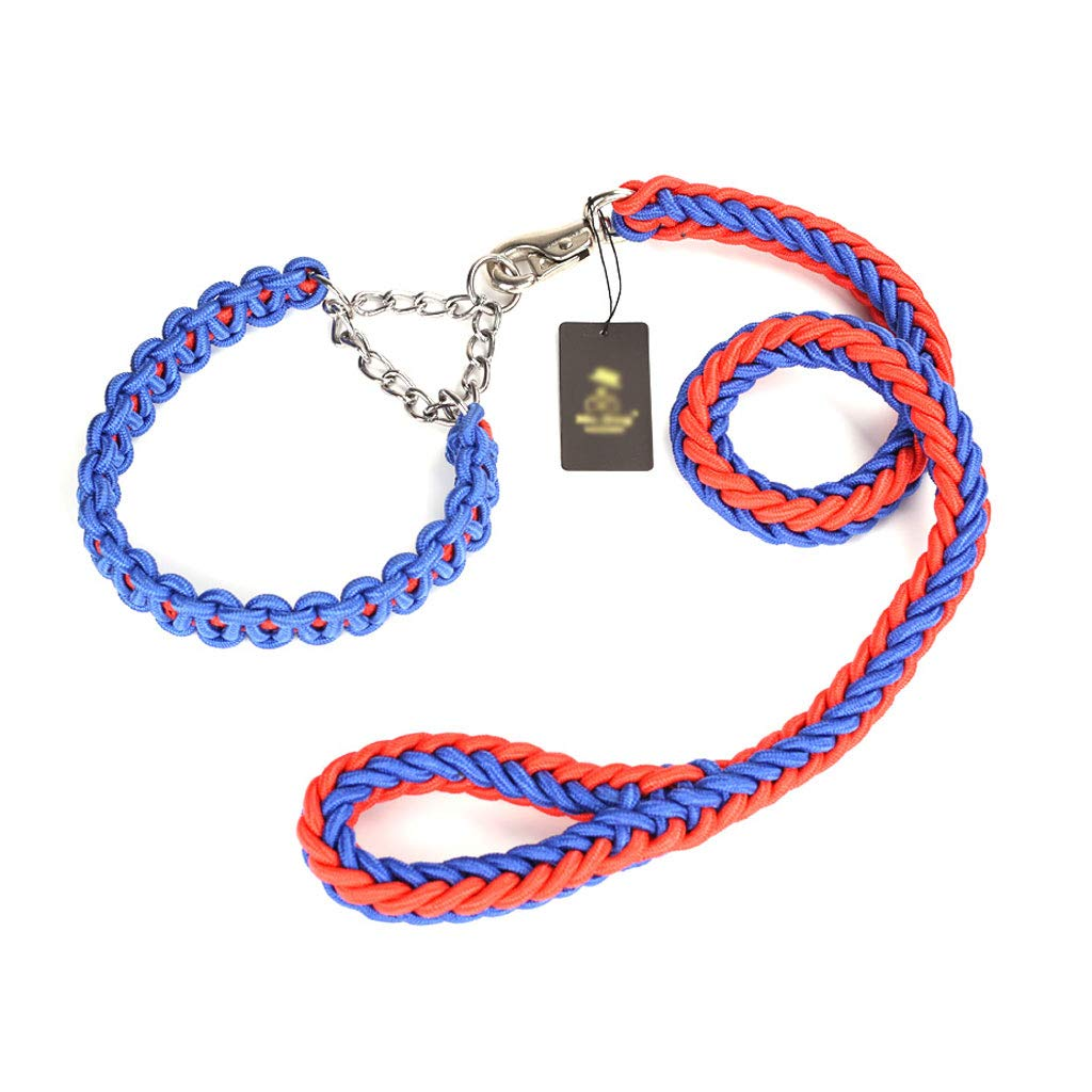 A L A L Pet Leash Hyena Rope Dog Collar Dog Chain Pet Leash Pet Supplies Medium Large Dog (color   A, Size   L)