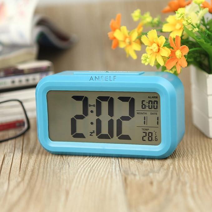 60 opinioni per Anself allarme LED orologio digitale Ripetizione Sommeiller attivato dalla luce