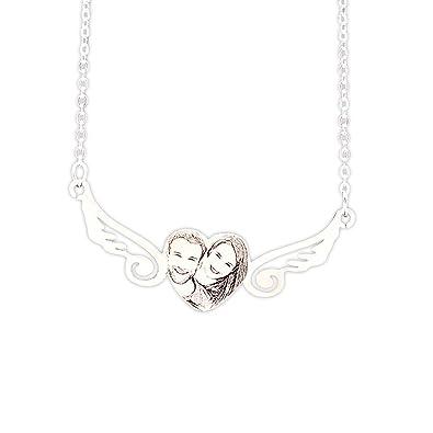 Amazon.com: activery foto personalizada collar colgante ...